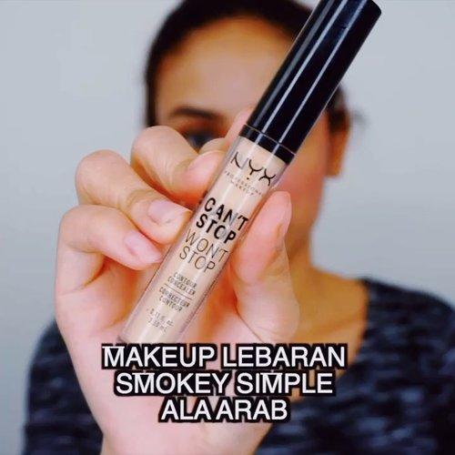 "<div class=""photoCaption"">Haloooo girlss!!! Inspirasi Make Up Lebaran yg sinple bangett klo mau smokey2 gt<br /> Product that I used: .<br /> 💕NYX Wont Stop Cant Stop Concealer .<br /> 💕Make Over Eye Shadow .<br /> 💕 Max Factor Eyeliner .<br /> <br />  <a class=""pink-url"" target=""_blank"" href=""http://m.id.clozette.co/search/query?term=indobeautygram&siteseach=Submit"">#indobeautygram</a>  <a class=""pink-url"" target=""_blank"" href=""http://m.id.clozette.co/search/query?term=tutorialmakeup&siteseach=Submit"">#tutorialmakeup</a>   <a class=""pink-url"" target=""_blank"" href=""http://m.id.clozette.co/search/query?term=ivgbeauty&siteseach=Submit"">#ivgbeauty</a>  <a class=""pink-url"" target=""_blank"" href=""http://m.id.clozette.co/search/query?term=beautyvlogger&siteseach=Submit"">#beautyvlogger</a>  <a class=""pink-url"" target=""_blank"" href=""http://m.id.clozette.co/search/query?term=beautyenthusiast&siteseach=Submit"">#beautyenthusiast</a> @indobeautygram  <a class=""pink-url"" target=""_blank"" href=""http://m.id.clozette.co/search/query?term=indobeautyblogger&siteseach=Submit"">#indobeautyblogger</a>  <a class=""pink-url"" target=""_blank"" href=""http://m.id.clozette.co/search/query?term=indobeautyvlogger&siteseach=Submit"">#indobeautyvlogger</a>  <a class=""pink-url"" target=""_blank"" href=""http://m.id.clozette.co/search/query?term=makeuptutorial&siteseach=Submit"">#makeuptutorial</a>  <a class=""pink-url"" target=""_blank"" href=""http://m.id.clozette.co/search/query?term=tutorialmakeup&siteseach=Submit"">#tutorialmakeup</a>  <a class=""pink-url"" target=""_blank"" href=""http://m.id.clozette.co/search/query?term=makeuplook&siteseach=Submit"">#makeuplook</a>  <a class=""pink-url"" target=""_blank"" href=""http://m.id.clozette.co/search/query?term=wakeupandmakeup&siteseach=Submit"">#wakeupandmakeup</a>  <a class=""pink-url"" target=""_blank"" href=""http://m.id.clozette.co/search/query?term=indobeauty&siteseach=Submit"">#indobeauty</a>  <a class=""pink-url"" target=""_blank"" href=""http://m.id.clozette.co/search/query?term="
