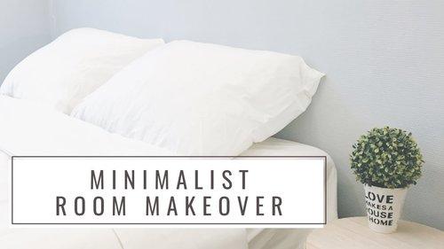 Minimalist Room Makeover (Cheap)   DIY Paint Headboard - YouTube