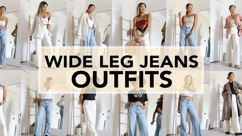 WIDE LEG JEANS: Outfit Ideas & How To Style - YouTube