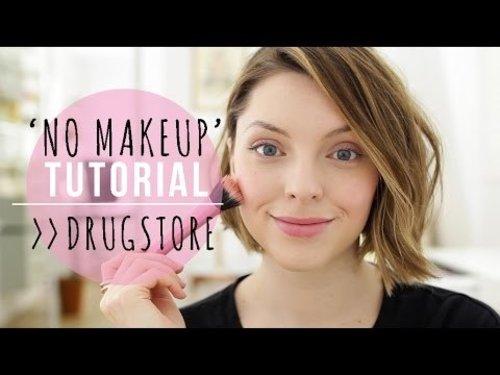 'No Makeup' Drugstore Makeup Tutorial | Essie Button - YouTube
