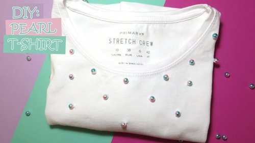 DIY: Pearl T-Shirt (Easy and Simple) - YouTube