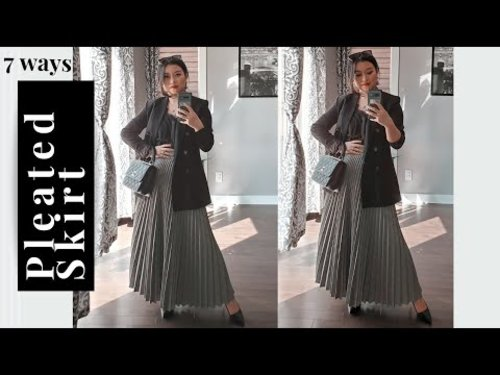 How to Style a Pleated Skirt - YouTube