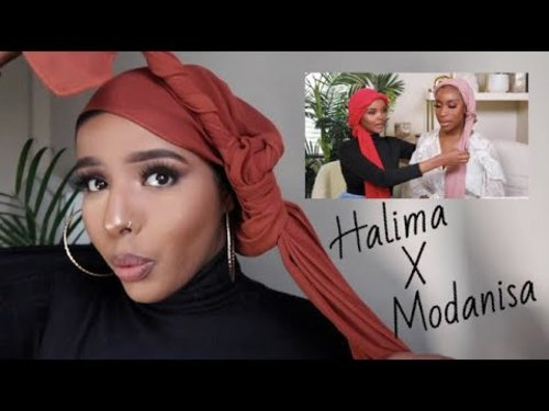 Tying Headwraps, Turbans, and Hijabs! With Halima Aden and Jackie Aina   Hijab styles - YouTube