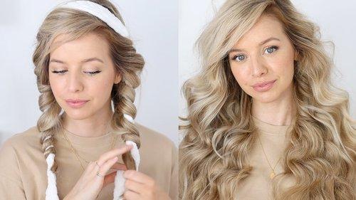 The BEST Heatless Overnight Curls Tutorial 💕 Robe Curls - YouTube
