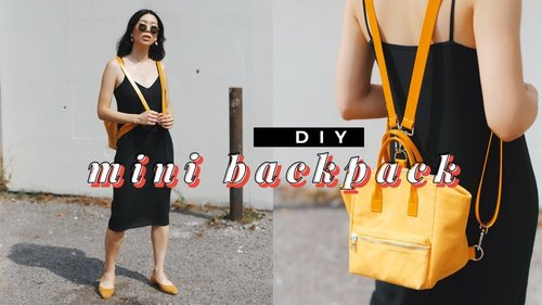 DIY MINI BACKPACK ✨🎒✨(Anello Style) | WITHWENDY - YouTube