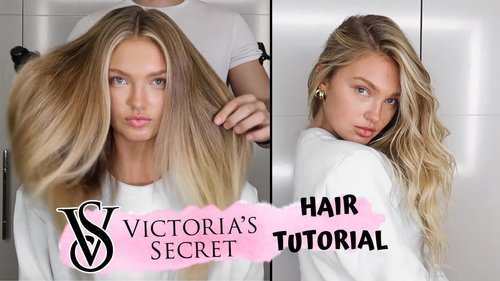 Victoria's Secret Hair Tutorial // Romee Strijd - YouTube