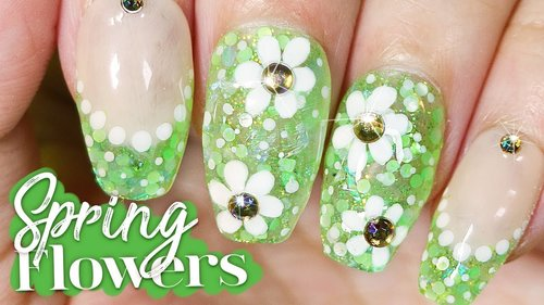 "<div class=""photoCaption"">Spring Flowers Nail Art Tutorial // How to Nail Art at Home - YouTube</div>"