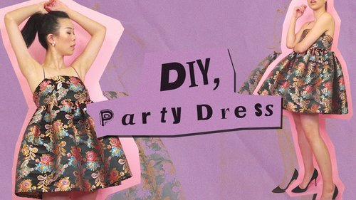 DIY PARTY DRESS ✨Ariana Grande inspired | WITHWENDY - YouTube