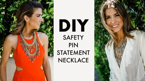 DIY: How To Make a Statement Necklace with SAFETY PINS!? -By Orly Shani - YouTube