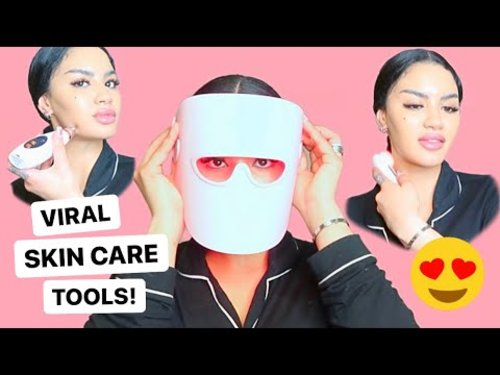 TRYING VIRAL SKIN CARE TOOLS WITH LUX SKIN! INSTAGRAM/TIKTOK SKIN CARE HACKS! - YouTube