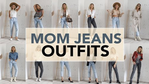 MOM JEANS: Outfit Ideas + How To Style - YouTube