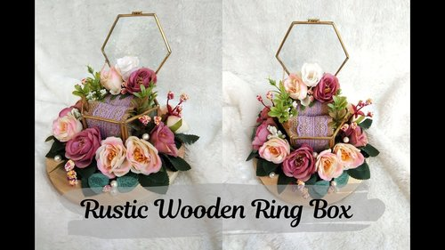 Kotak Cincin Rustic Inspirasi | Rustic Wooden Ring Box Inspiration - YouTube