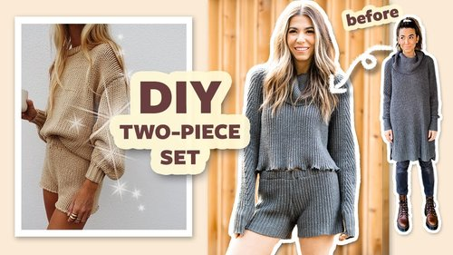 DIY Transformation: 2-Piece Set from 1 Sweater! | DIY with Orly Shani - YouTube