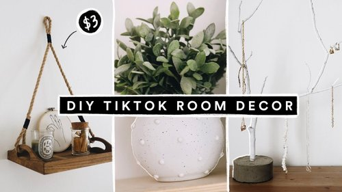 Recreating VIRAL TIK TOK DIY Projects + Room Decor - YouTube