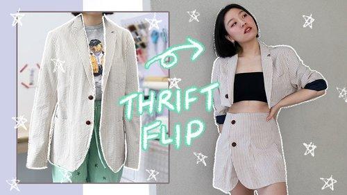 THRIFT FLIP / DIY Men's Blazer ➡️ Two Piece Skirt Suit ✨ - YouTube