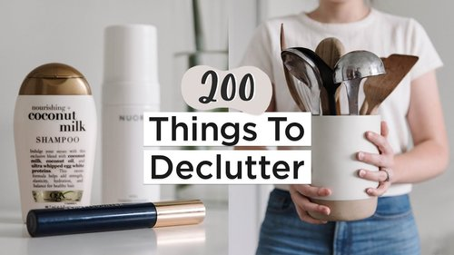 200 Things to Get Rid of in 2020 | Ultimate Decluttering Guide | + Free PDF Checklist - YouTube