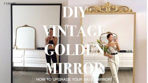QUARANTINE VLOG | I made a DIY Parisian Golden Mirror | #JadoreChristina - YouTube