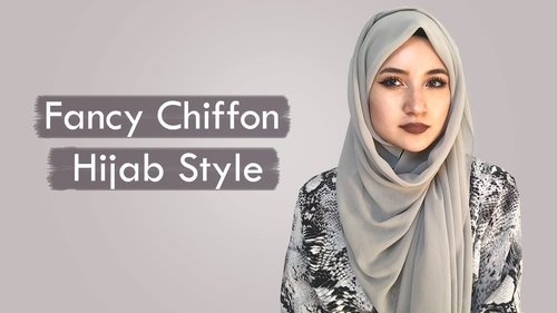 Fancy Chiffon Hijab Style - Modestbehaviour.com - YouTube