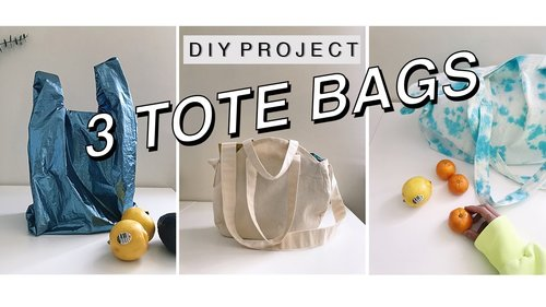 DIY Tote Bag -Reusable & Sustainable inspired by Palm Angels - YouTube