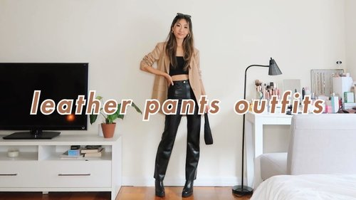 STYLING: LEATHER PANTS 🖤   11 casual outfits with faux leather pants - YouTube