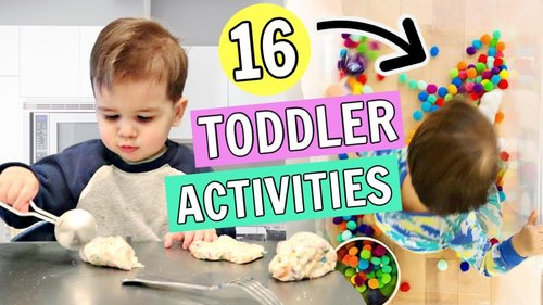 16 Toddler Activities You Can Do at Home   1-2 year olds - YouTube
