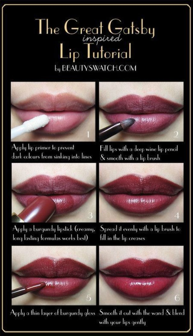 The Great Gatsby Inspired Lip Tutorial. Need this for 1920s dance #MakeUpTutorial