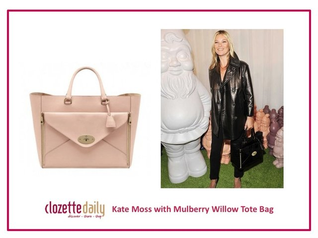 Kate Moss with Mulberry Willow Tote Bag